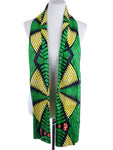 AFRICAN DASHIKI PRINT TRIBAL HEAD SCARF WRAP - GREEN