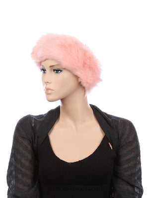 Open Top Faux Fur Fashion Hat And Cap