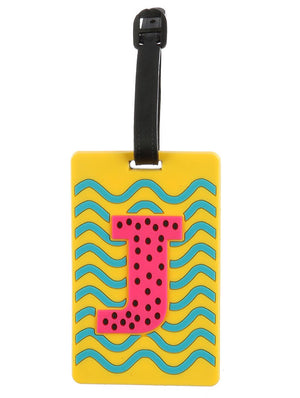 Letter J Rubber Bag Tag