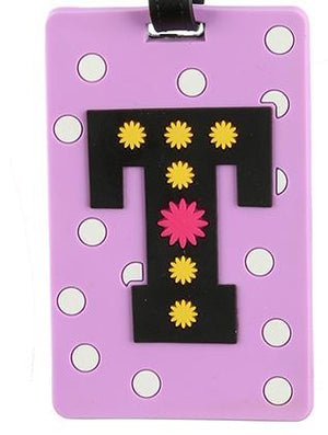 Letter T Rubber Bag Tag