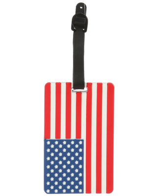 American Flag Rubber Bag Tag General Merchandise