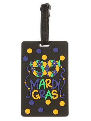 Mardi Gras Rubber Bag Tag General Merchandise