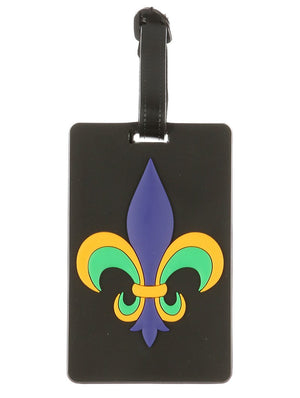 Fleur De Lis Rubber Bag Tag General Merchandise