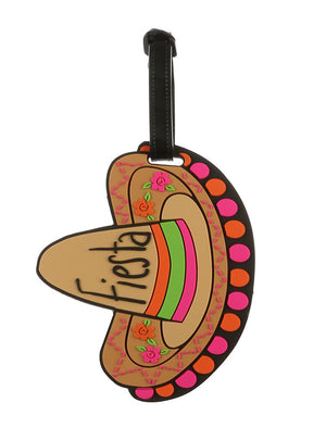 Fiesta Sombrero Rubber Bag Tag General Merchandise