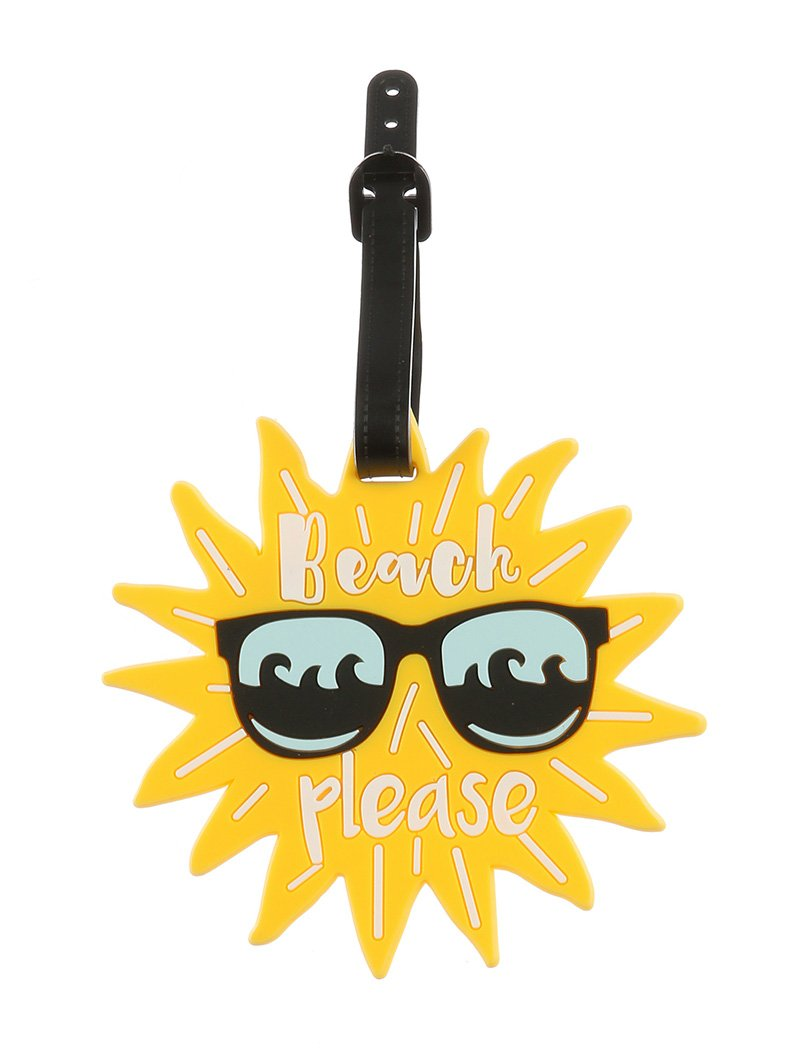 Sun In Sunglasses Rubber Bag Tag