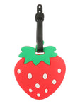 STRAWBERRY FRUIT RUBBER LUGGAGE BAG TAG