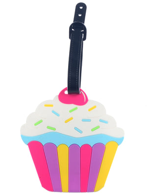 CUPCAKE 3D RUBBER LUGGAGE BAG TAG