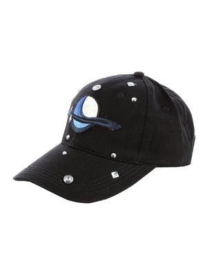 Saturn Patch Black Hat And Cap