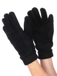 Fleece Layered Suede Knitted Womens Gloves
