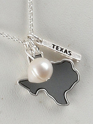 Pearl Of Texas Charm Necklace And Earring Set