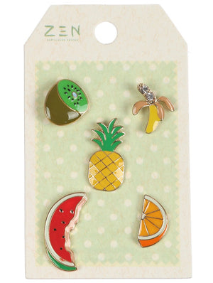 5 Pc Fruit Pin And Brooch