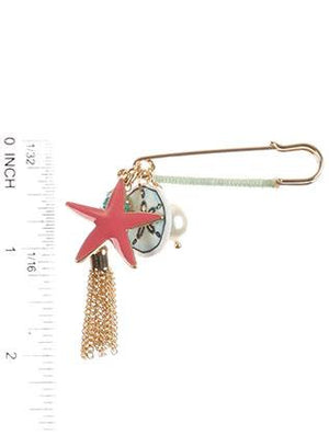 Sealife Charm Pin And Brooch
