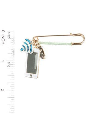Smartphone Charm Pin And Brooch