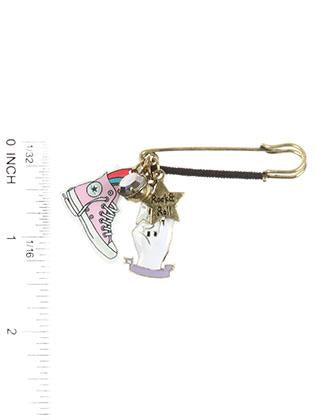 Rock N Roll Charm Pin And Brooch