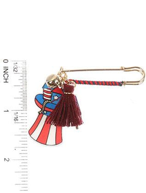 Stars And Stripes Charm Pin And Brooch