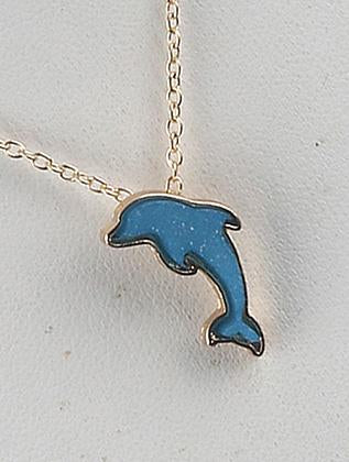 Dolphin Charm Chain Necklace Set