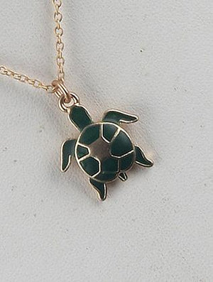 Turtle Charm Chain Necklace Set