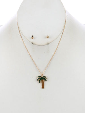 Palmtree Necklace Set