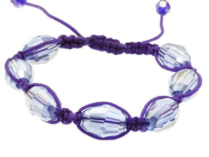 Adjustable Faceted Glass Bead Bracelet