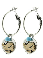 Aged Finish Dove Charm Earrings