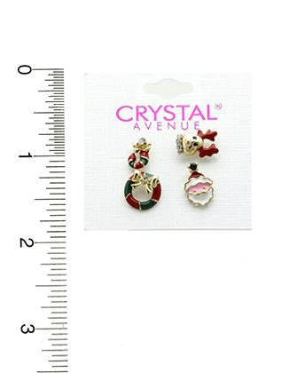 4 Pc Christmas Earrings