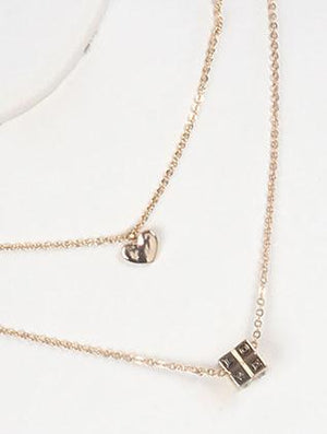2 Pc Rubiks Cube Charm Chain Necklace