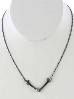 BONE BIB NECKLACE