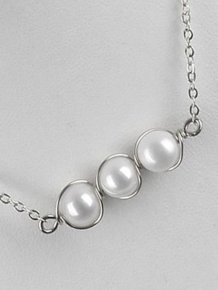 Pearl Trio Chain Necklace