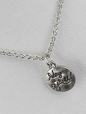 Matte Finish Metal Message Charm Necklace