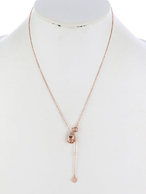 BREAST CANCER AWARENESS BOXING CHARM NECKLACE