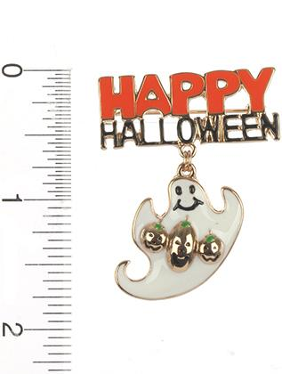 HAPPY HALLOWEEN BROOCH PIN