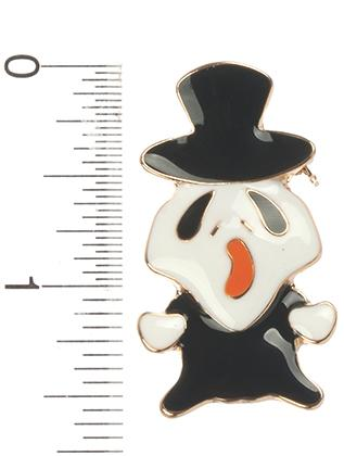 SCARY GHOST BROOCH PIN