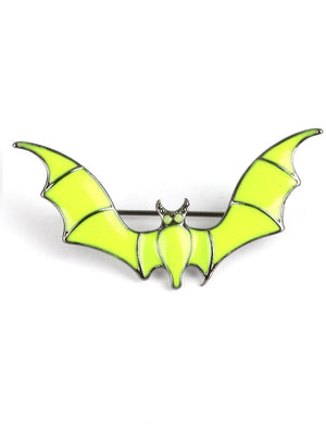 GLOW IN THE DARK BAT PIN