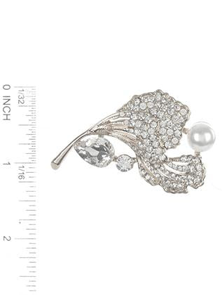 Crystal Stone  Flower Pin