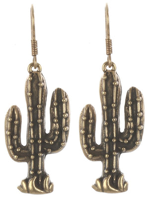 Aged Finish Cactus Earrings