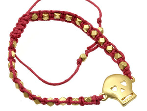 ADJUSTABLE SKULL CORD BRACELET