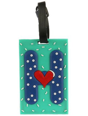 Letter H Rubber Bag Tag General Merchandise