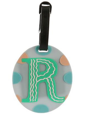 Letter P Rubber Bag Tag