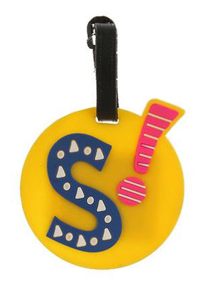 Letter S Rubber Bag Tag