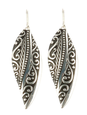 Antique Inspired Leaf Shape Earrings