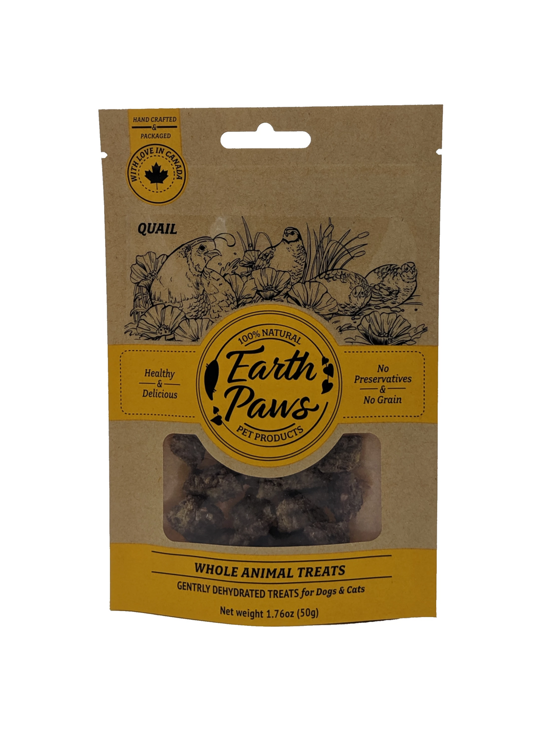 Whole Animal Treats (Quail) - Earth Paws Pet Products