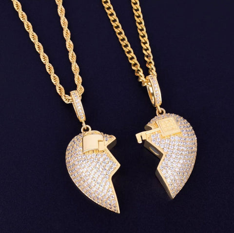 AAA Cubic Zirconia heart set