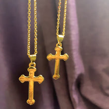 Load image into Gallery viewer, gold plated cross necklace