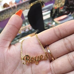 gold plated Classic name necklace
