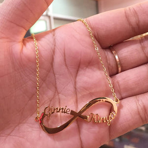 gold plated infinity sign  necklace