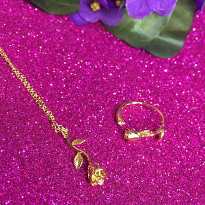 gold plated rose set