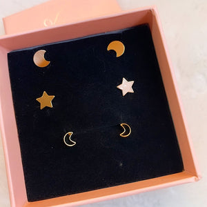 gold plated star earring kit