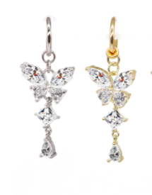 butterfly fake belly ring ( PRE ORDER )