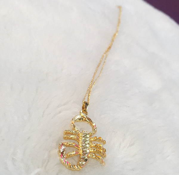 gold filled 2.0 Scorpio necklace