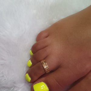 gold plated band toe ring